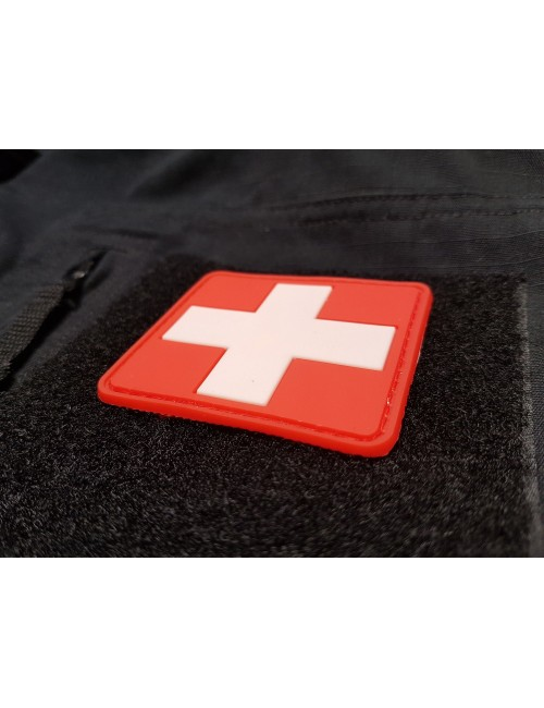 Medic PVC patch | Red/White